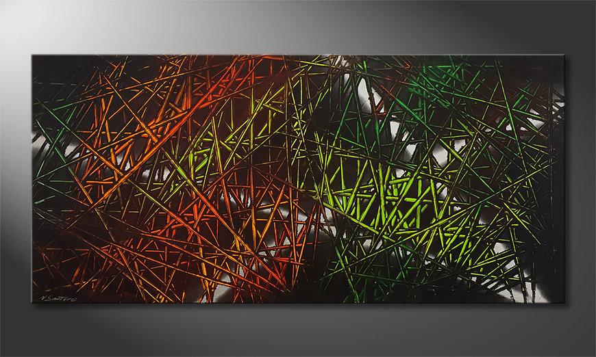 Nowoczesna sztuka Jungle Fever 150x70x2cm