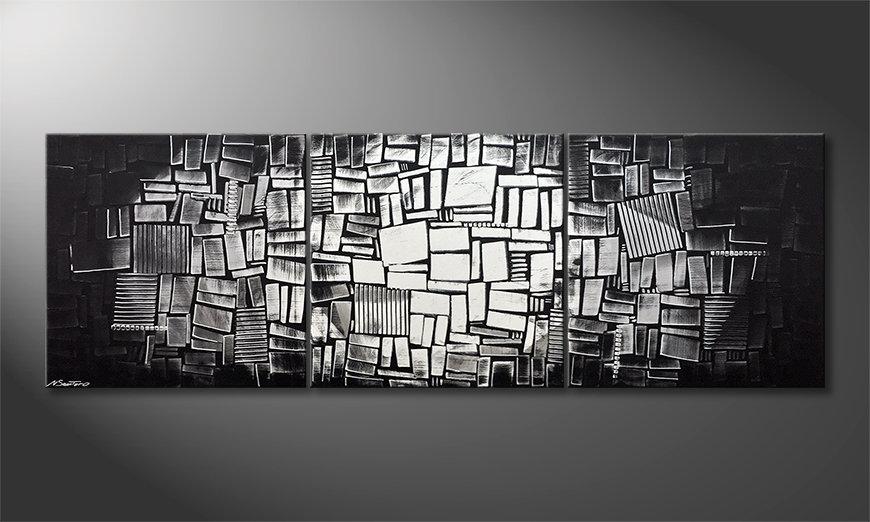 Nowoczesna sztuka Moon Dices 240x80x2cm