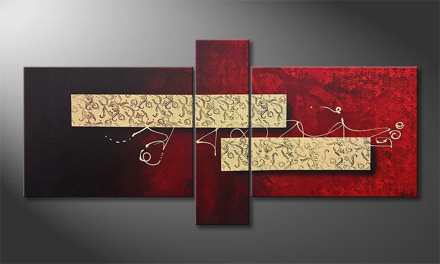 Nowoczesna sztuka Sound Of Silence 210x100x2cm