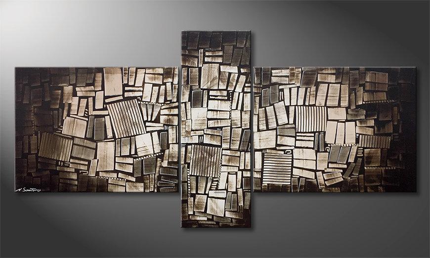 Nowoczesna sztuka Wooden Light 220x110x2cm