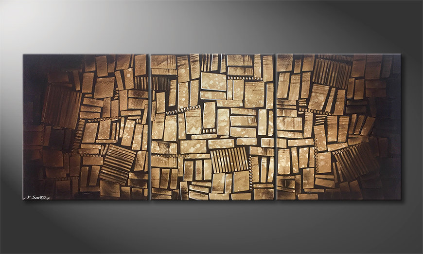 Nowoczesne obraz Cubic Wood 180x70x2cm