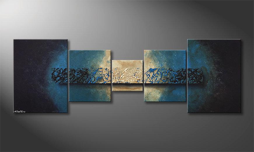 Nowoczesne obraz Deep Blue Light 210x70x2cm
