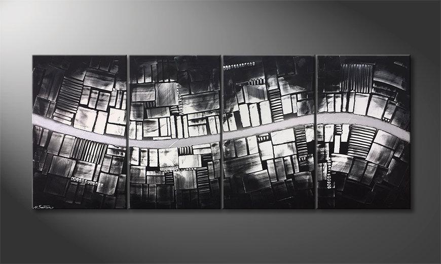 Nowoczesne obraz Downtown 200x85x2cm