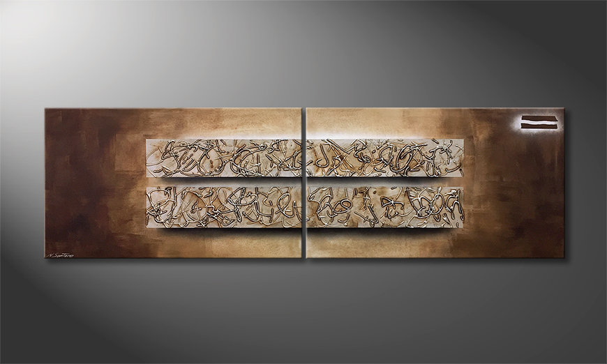 Nowoczesne obraz Former Traces 200x60x2cm