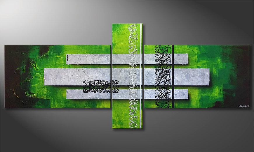 Nowoczesne obraz Green Inspiration 230x100x2cm