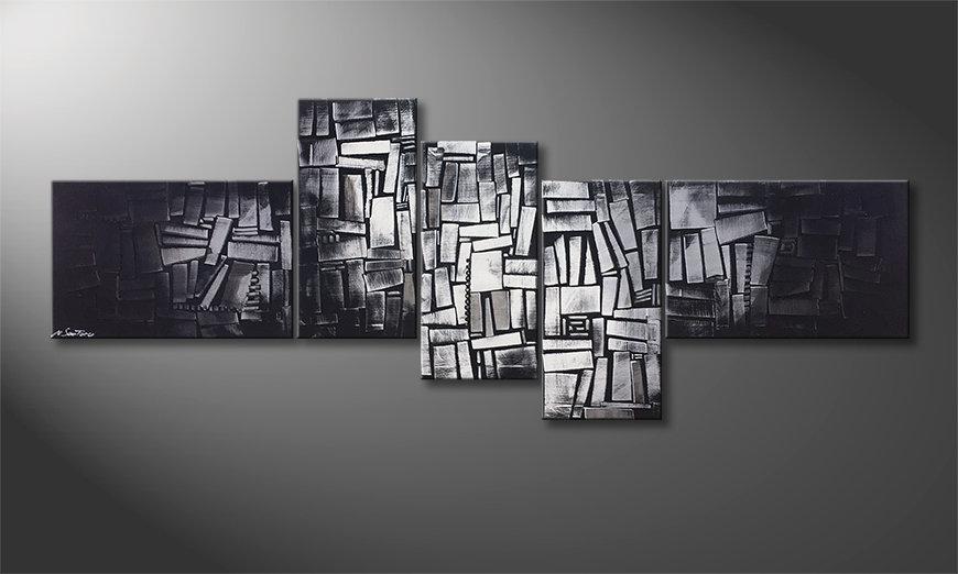 Nowoczesne obraz Light Cubes 210x80x2cm