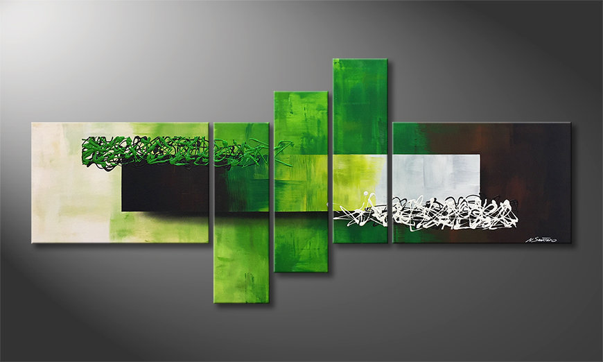 Nowoczesne obraz Playful Meadow 210x80x2cm