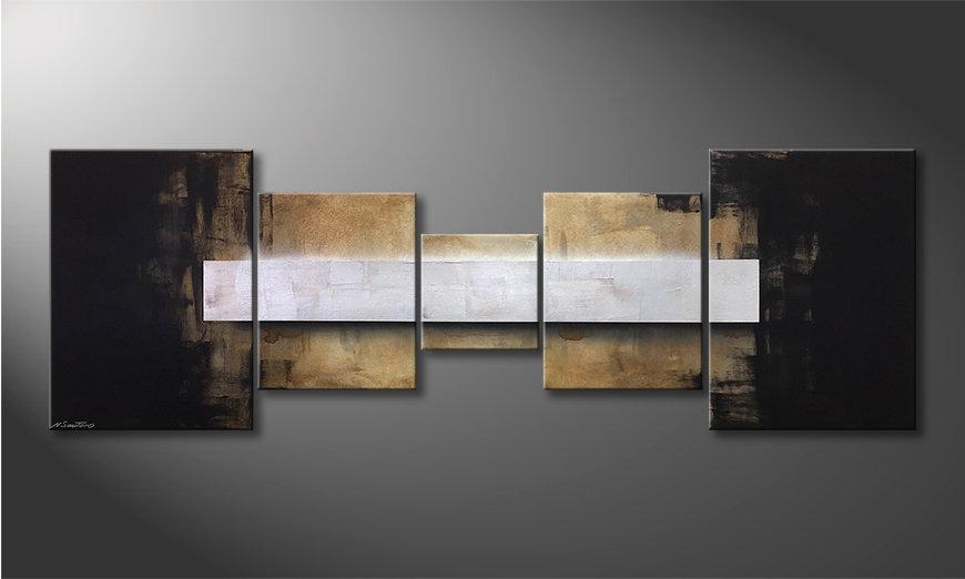 Nowoczesne obraz Shinning Silver 210x70x2cm