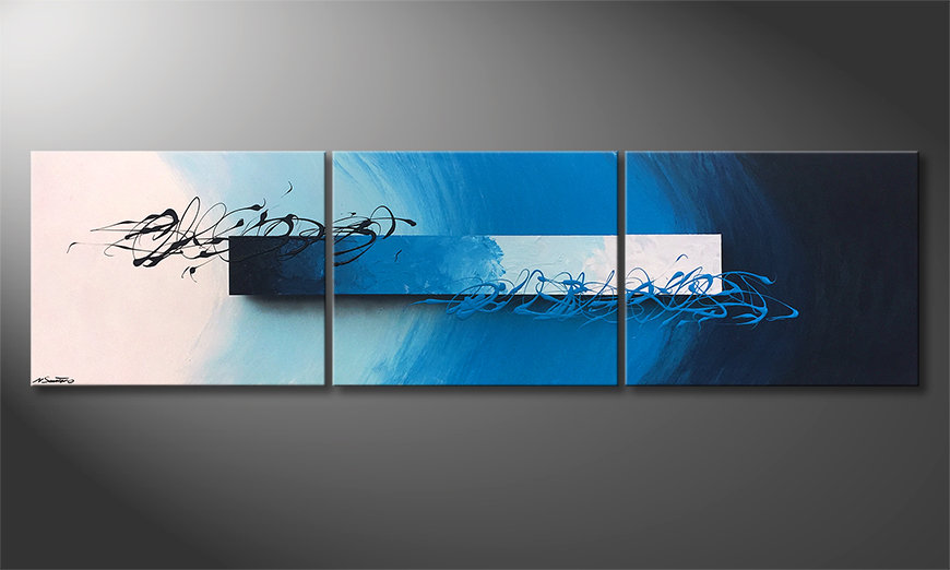 Obraz Deep Sea Signs 225x60x2cm