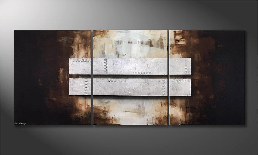 Obraz Fortunate Silver 210x90x2cm