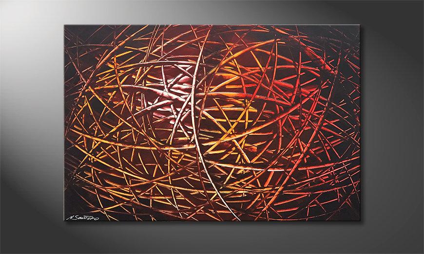 Obraz Glowing Stripes 120x80x2cm