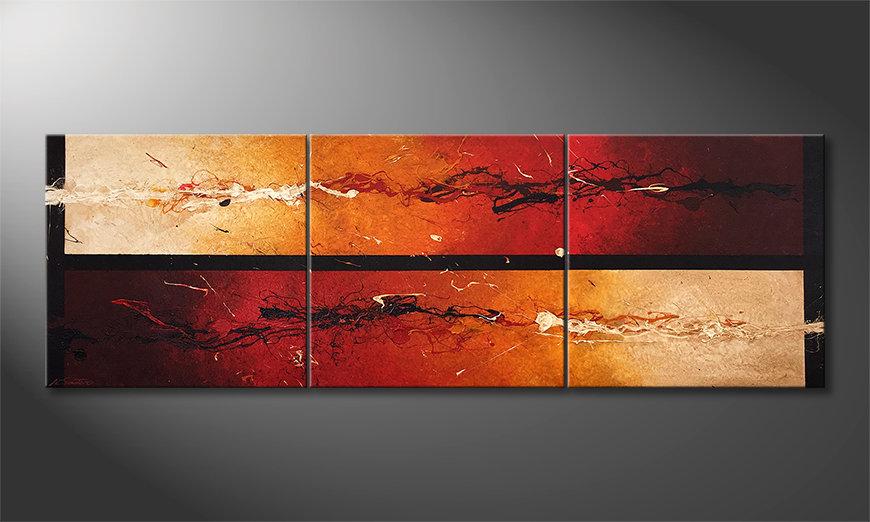 Obraz Heat Combat 210x70x2cm