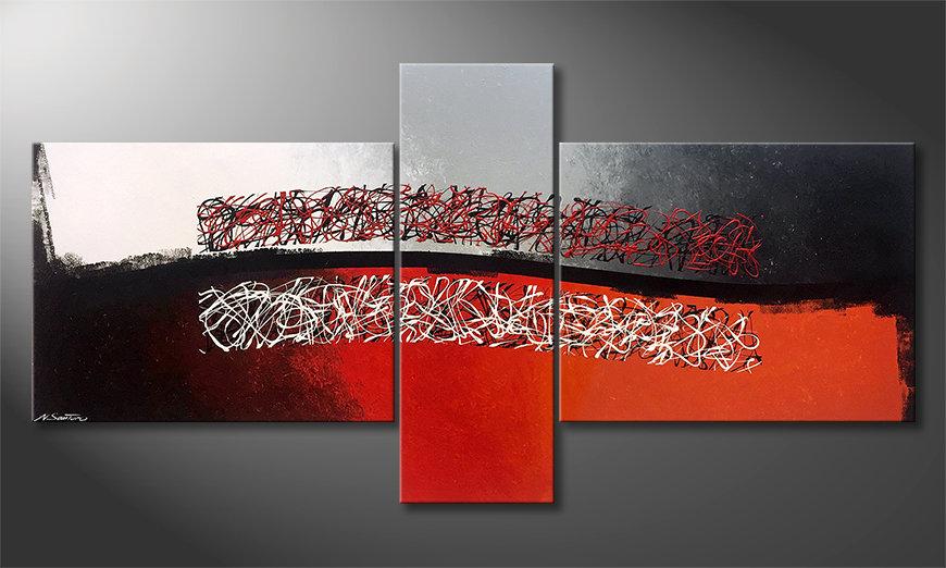 Obraz Mirrored Emotion 220x110x2cm