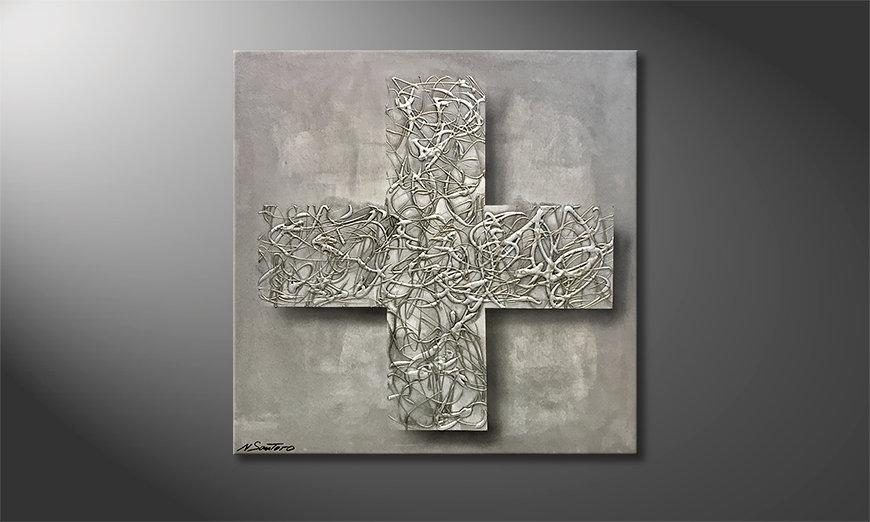 Obraz Silver Cross 80x80x2cm