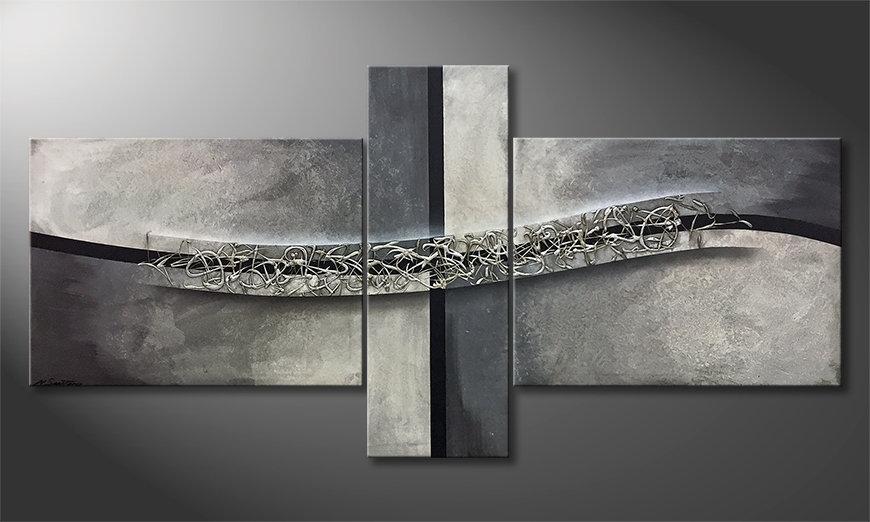 Obraz Swinging Silver 220x110x2cm