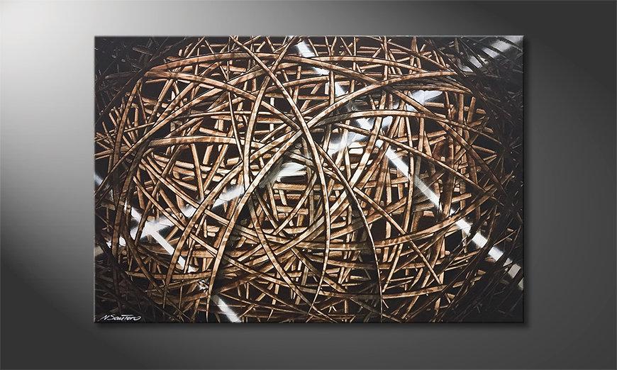 Obraz do salonu Cross Lines 120x80x2cm