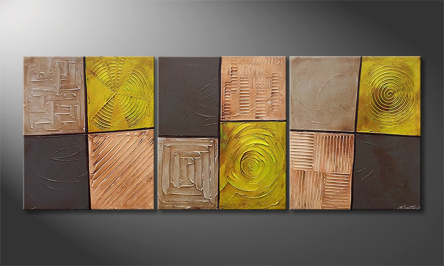 Obraz do salonu Moods Of Earth 180x70x2cm