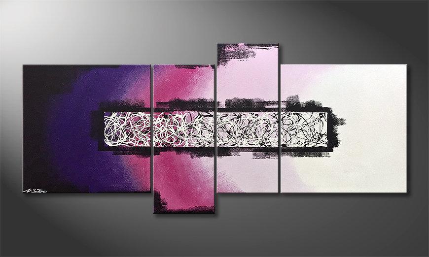 Obraz do salonu Purple Connection 180x80x2cm